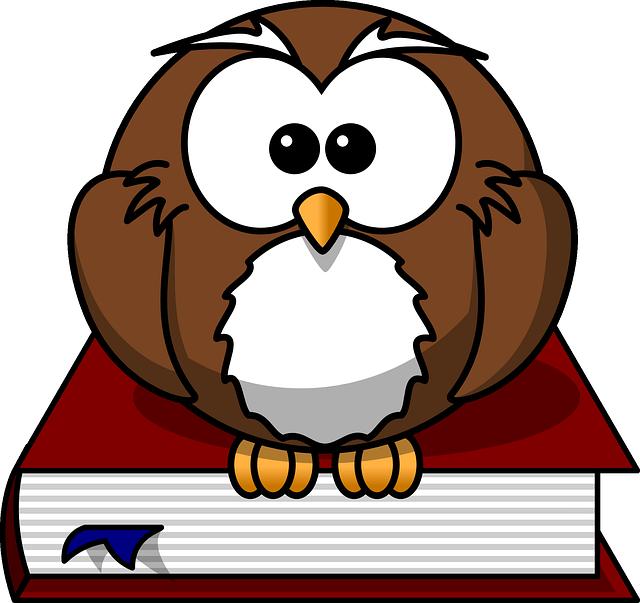 smart looking owl