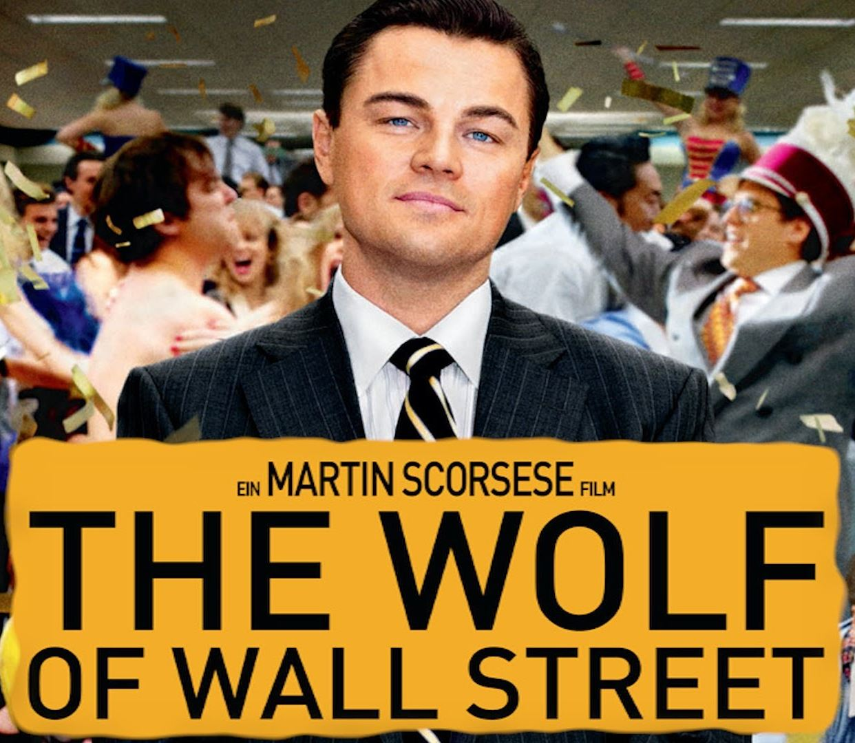 the wolf of wall street placard
