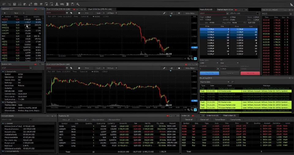 trading software user interface example